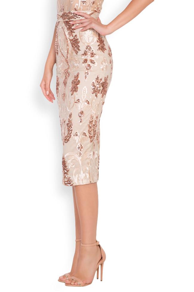 Marie tul and lame lace midi skirt Mariana Ciceu image 1