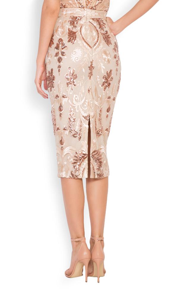 Marie tul and lame lace midi skirt Mariana Ciceu image 2