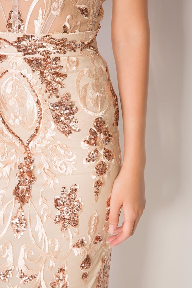Marie tul and lame lace midi skirt Mariana Ciceu image 3