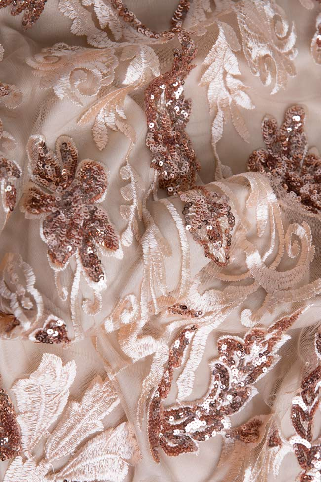 Marie tul and lame lace midi skirt Mariana Ciceu image 4