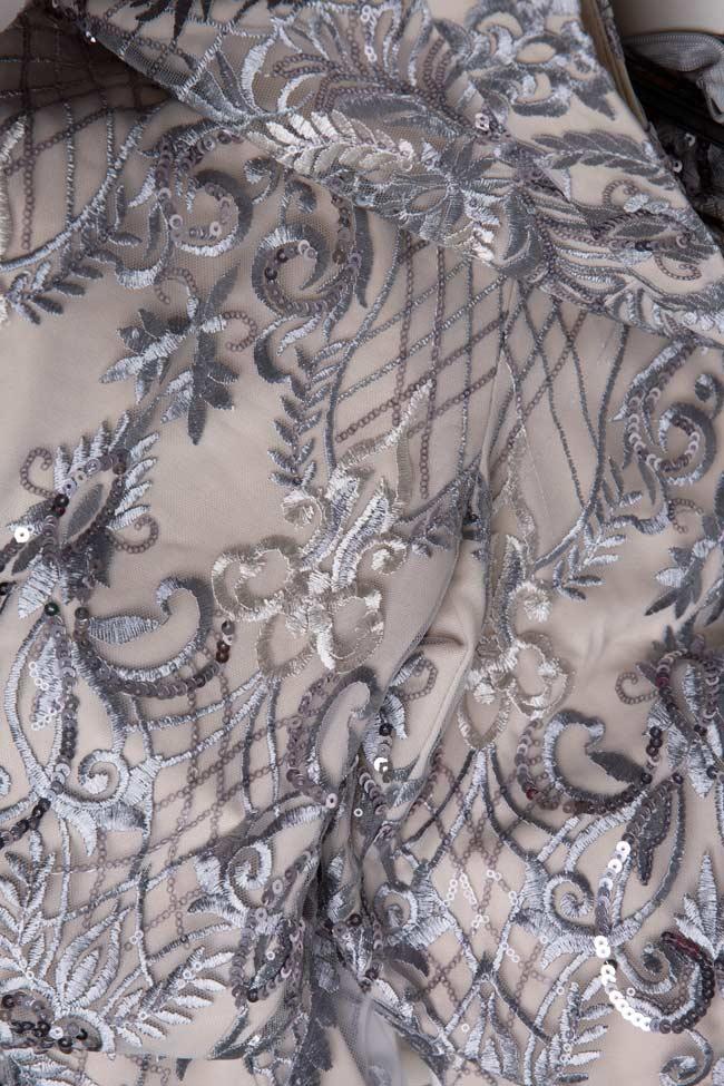 Pantalon large en tulle brodé avec dentelle et sequins Emma Mariana Ciceu image 4