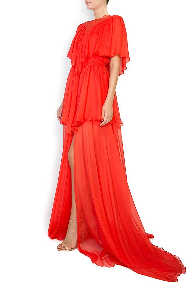 Serena silk-chiffon gown Manuri image 1