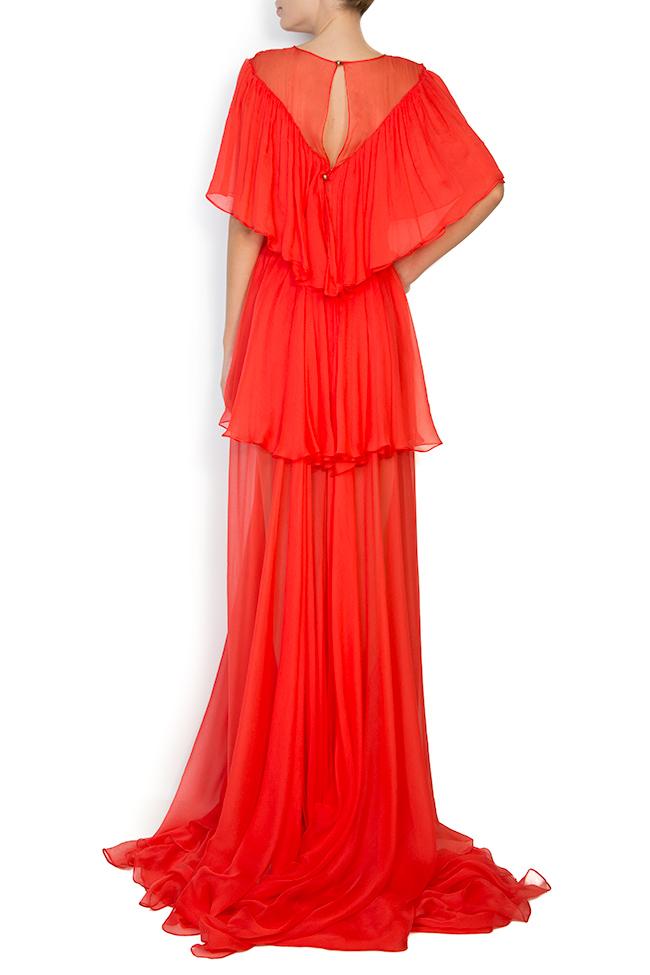 Serena silk-chiffon gown Manuri image 2