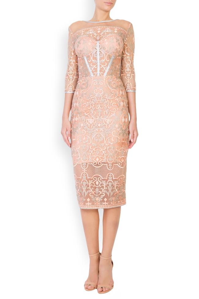 Eveline embellished tulle midi dress Mariana Ciceu image 0