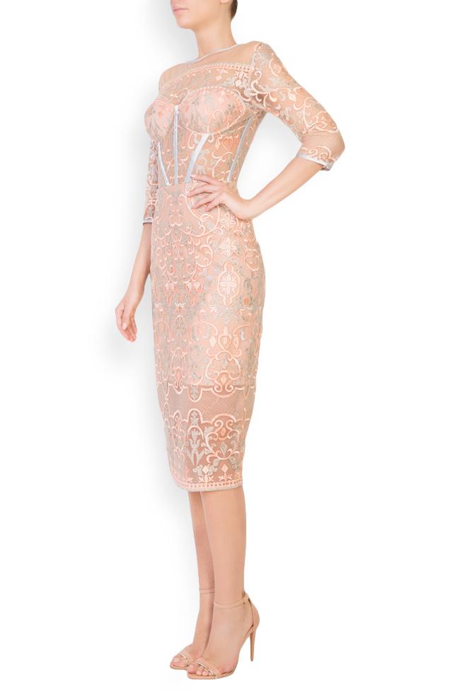 Eveline embellished tulle midi dress Mariana Ciceu image 1