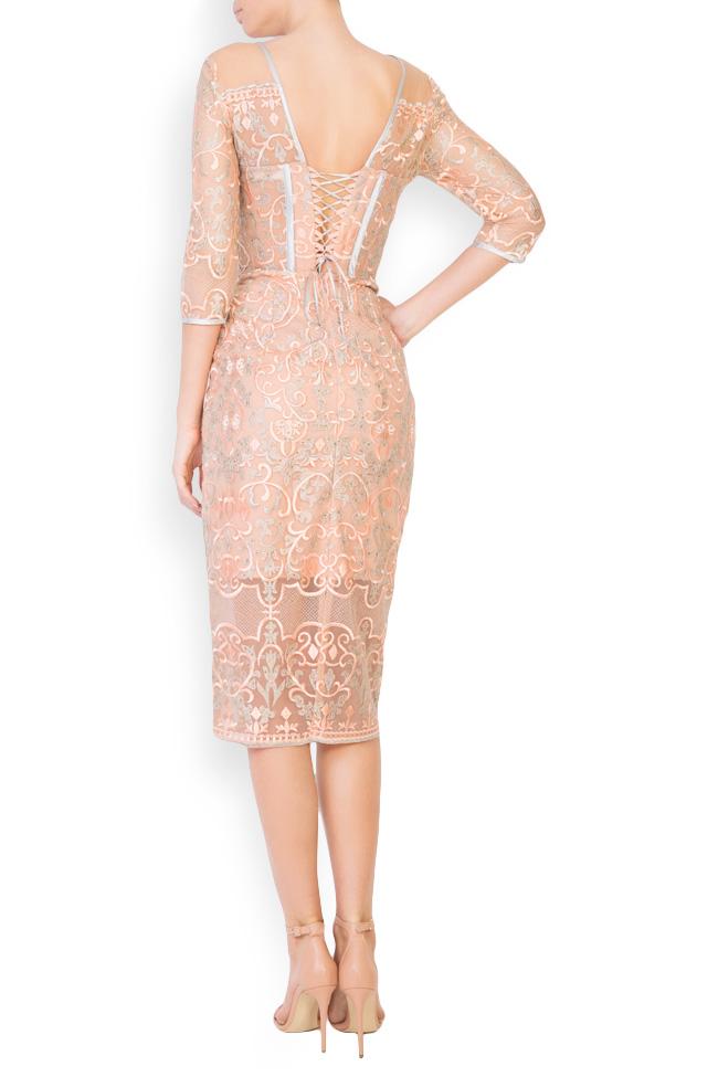 Eveline embellished tulle midi dress Mariana Ciceu image 2