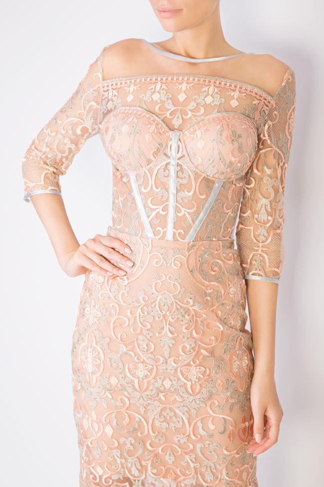 Eveline embellished tulle midi dress Mariana Ciceu image 3