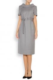 Acob a Porter Lady Acob belted wool midi dress