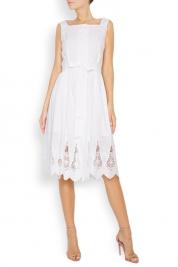 Acob a Porter Miss Acob broderie anglaise cotton midi dress