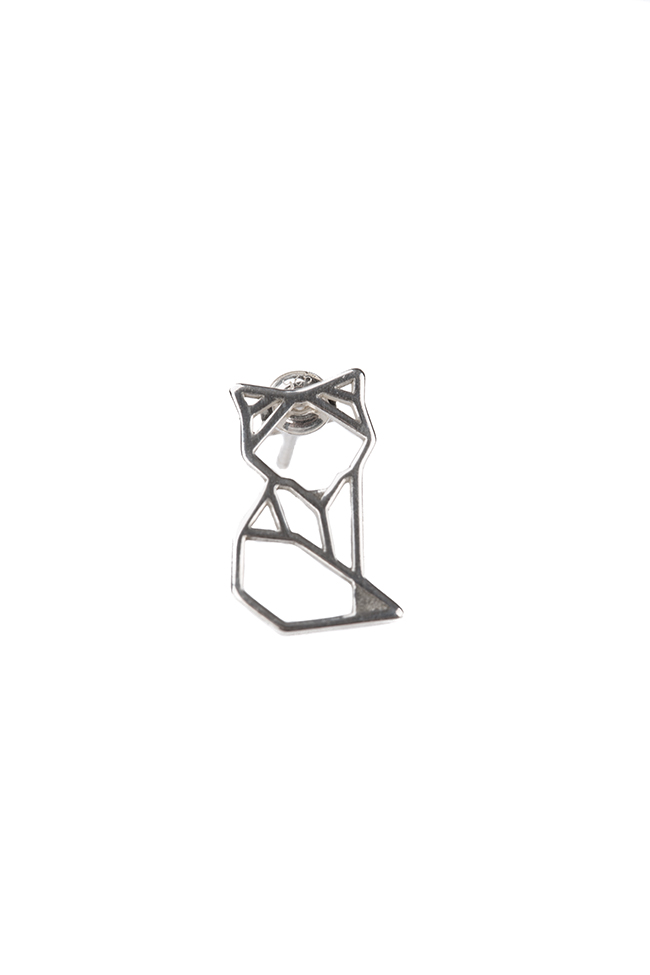 Cercei din argint Origami Fox Snob. imagine 1