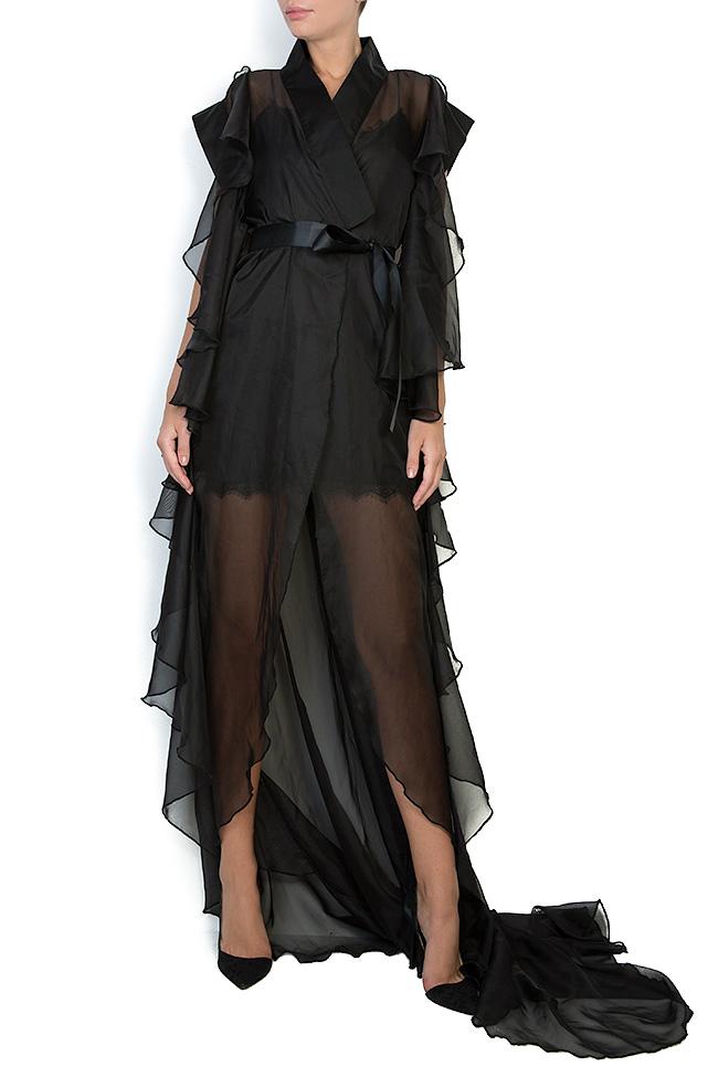 The Midnight Lake asymmetric veil maxi dress Atelier Jaisse image 0