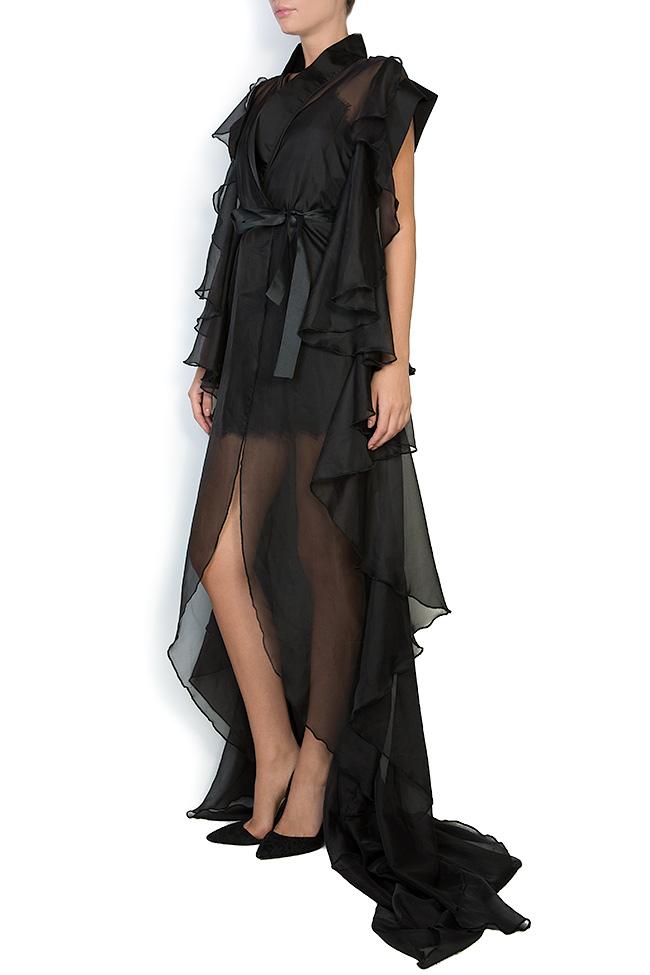 The Midnight Lake asymmetric veil maxi dress Atelier Jaisse image 1