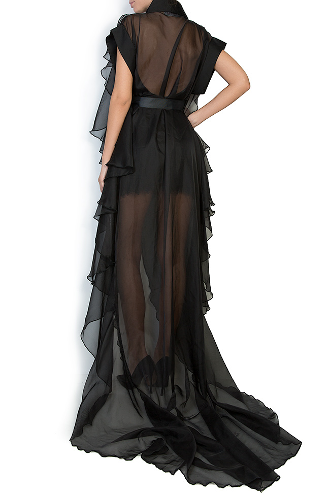 The Midnight Lake asymmetric veil maxi dress Atelier Jaisse image 2