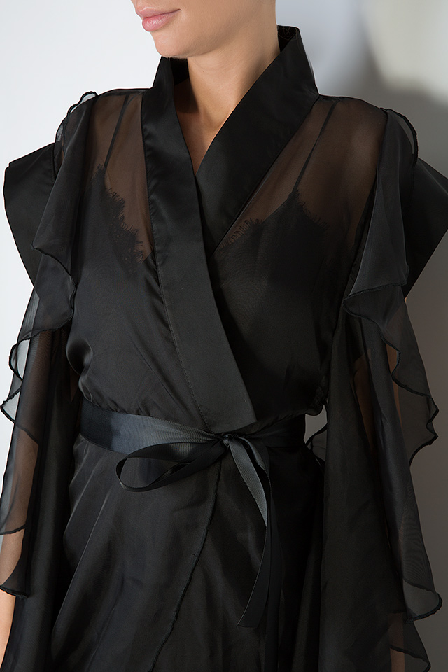 The Midnight Lake asymmetric veil maxi dress Atelier Jaisse image 3