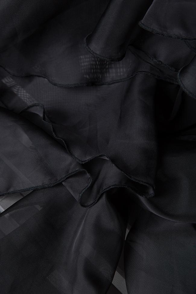 The Midnight Lake asymmetric veil maxi dress Atelier Jaisse image 4