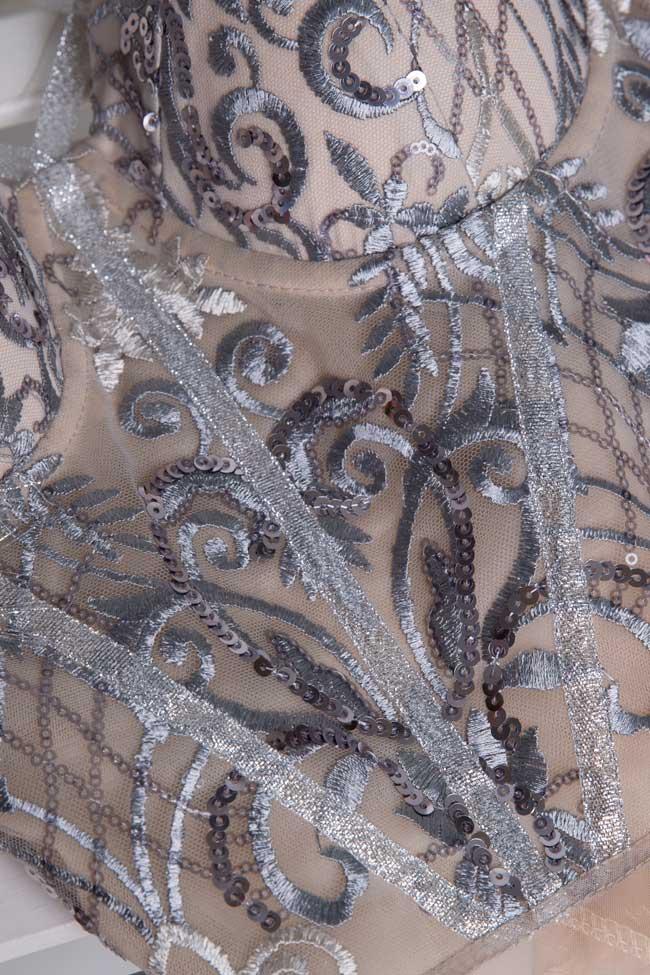 Body en tulle avec broderie en sequins et dentelle Mariana Ciceu image 4