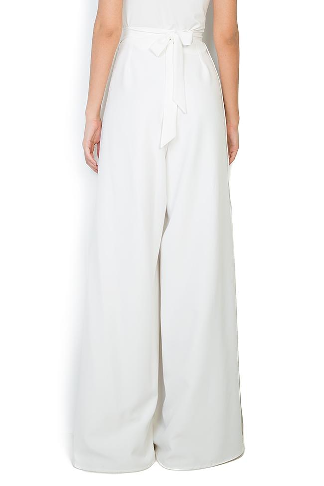 Pantalon en crêpe avec fentes latérales Palazzo Atelier Jaisse image 2