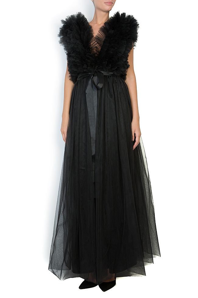 Ruffled tulle maxi dress Atelier Jaisse image 0