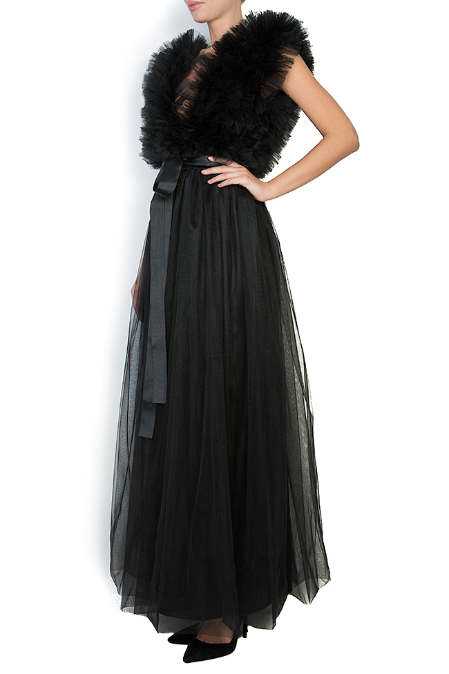 Ruffled tulle maxi dress Atelier Jaisse image 1