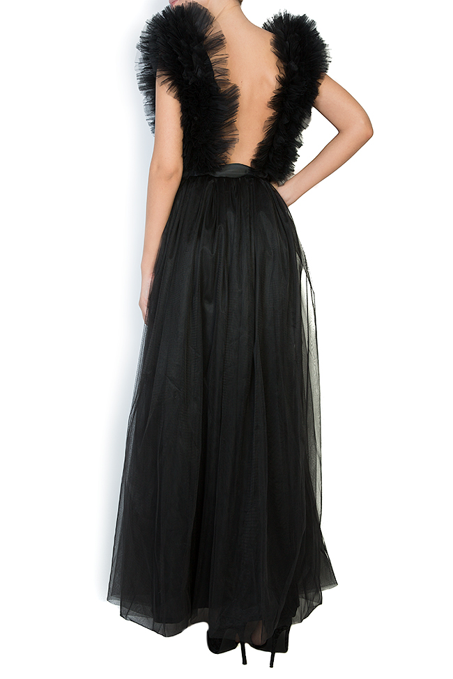 Ruffled tulle maxi dress Atelier Jaisse image 2