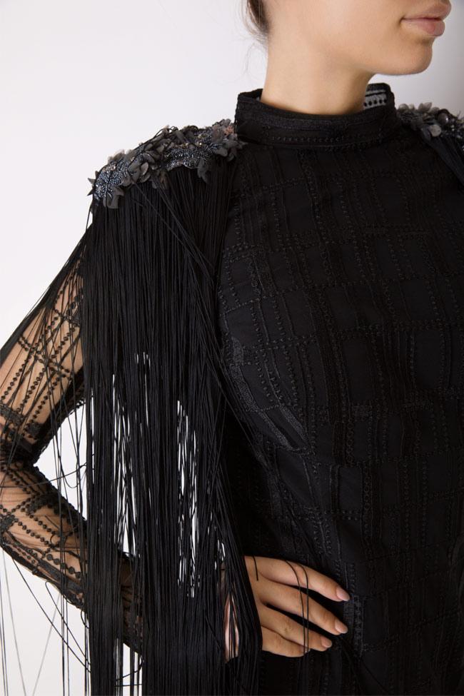 Robe en tulle avec des broderies et franges Kary Style Up image 3