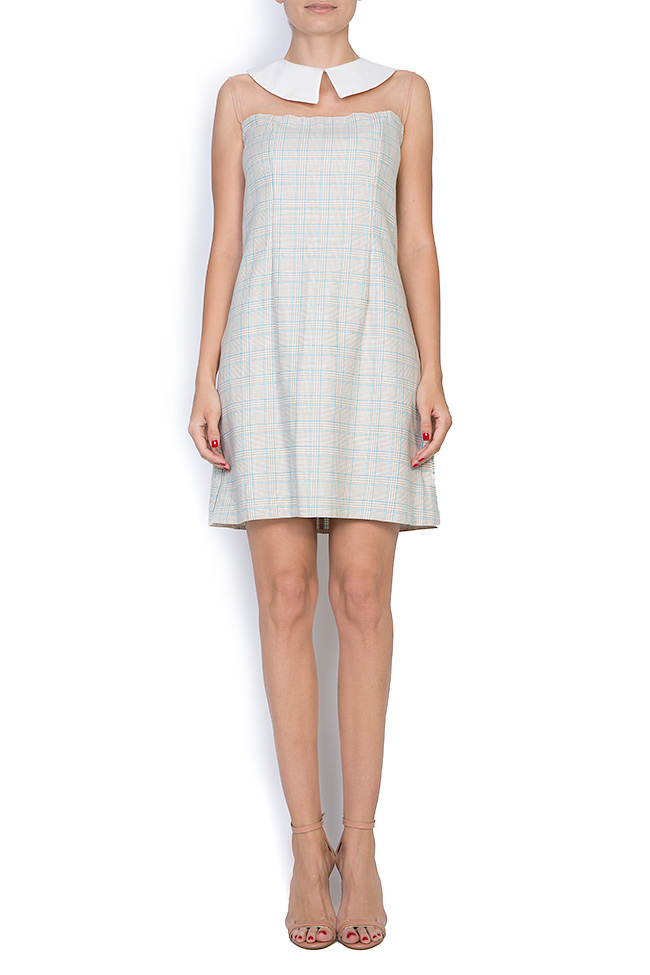 Michelle checked woven tulle mini dress  Pulse  image 0