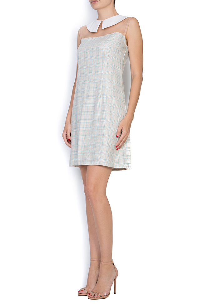 Michelle checked woven tulle mini dress  Pulse  image 1