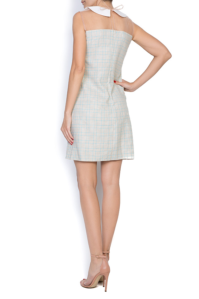 Michelle checked woven tulle mini dress  Pulse  image 2