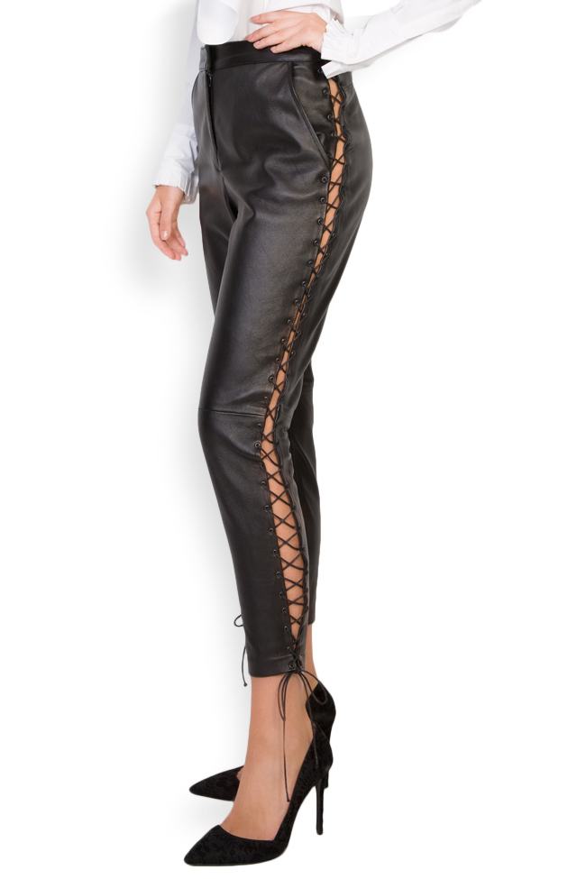 Lace-up leather pants LUWA image 1