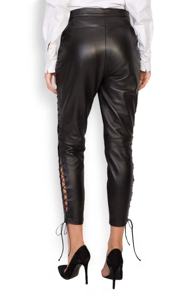Lace-up leather pants LUWA image 2