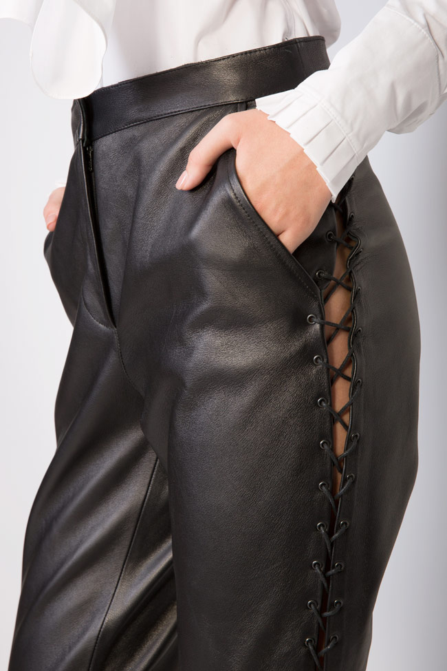 Lace-up leather pants LUWA image 3