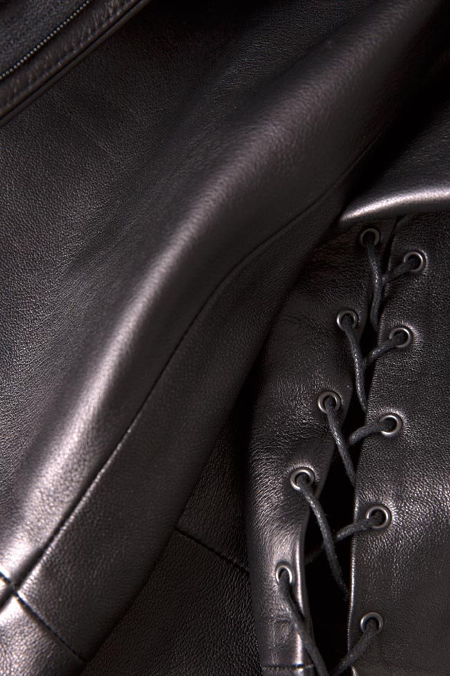 Lace-up leather pants LUWA image 4