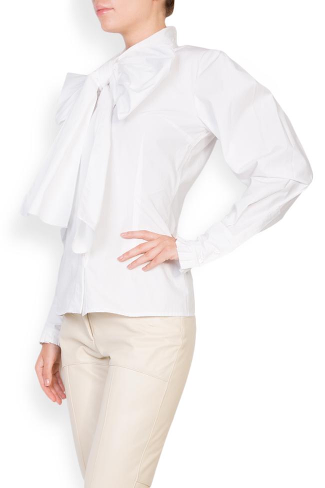 Pussy-bow cotton-poplin shirt LUWA image 1