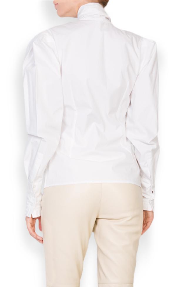 Pussy-bow cotton-poplin shirt LUWA image 2