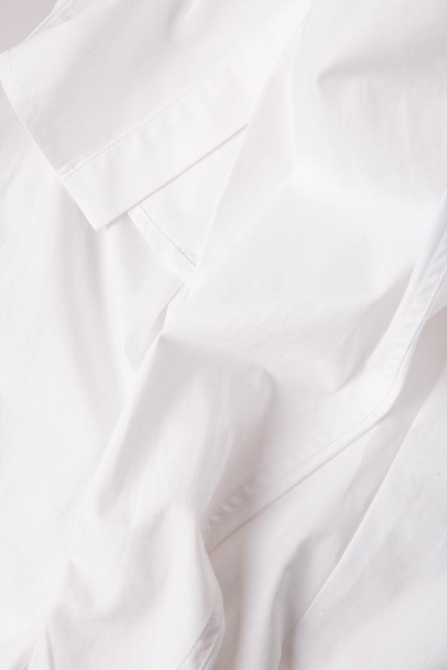 Pussy-bow cotton-poplin shirt LUWA image 4