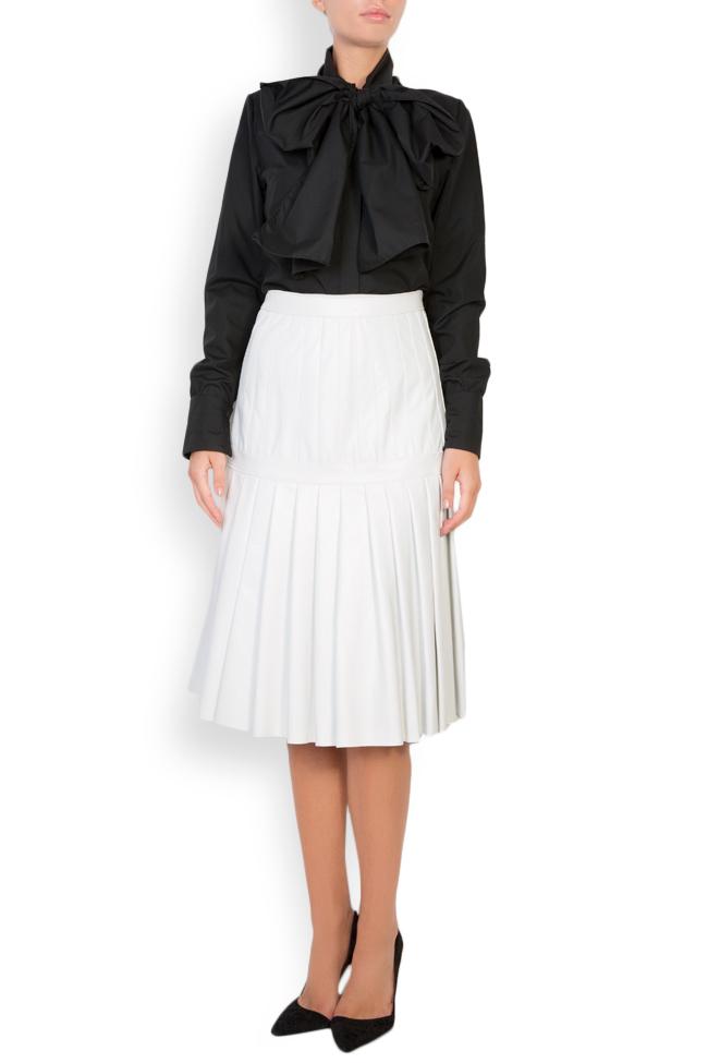Pleated leather skirt LUWA image 0