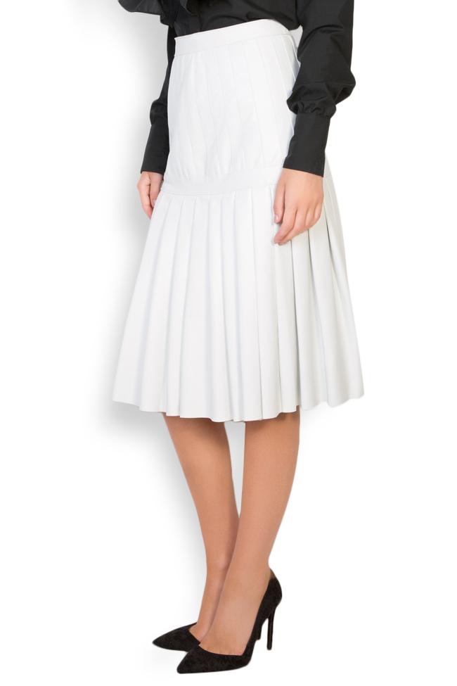 Pleated leather skirt LUWA image 2