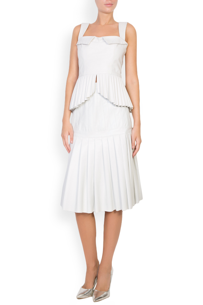 Pleated leather skirt LUWA image 1