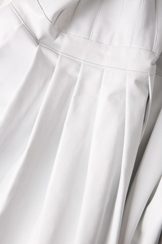 Pleated leather skirt LUWA image 5