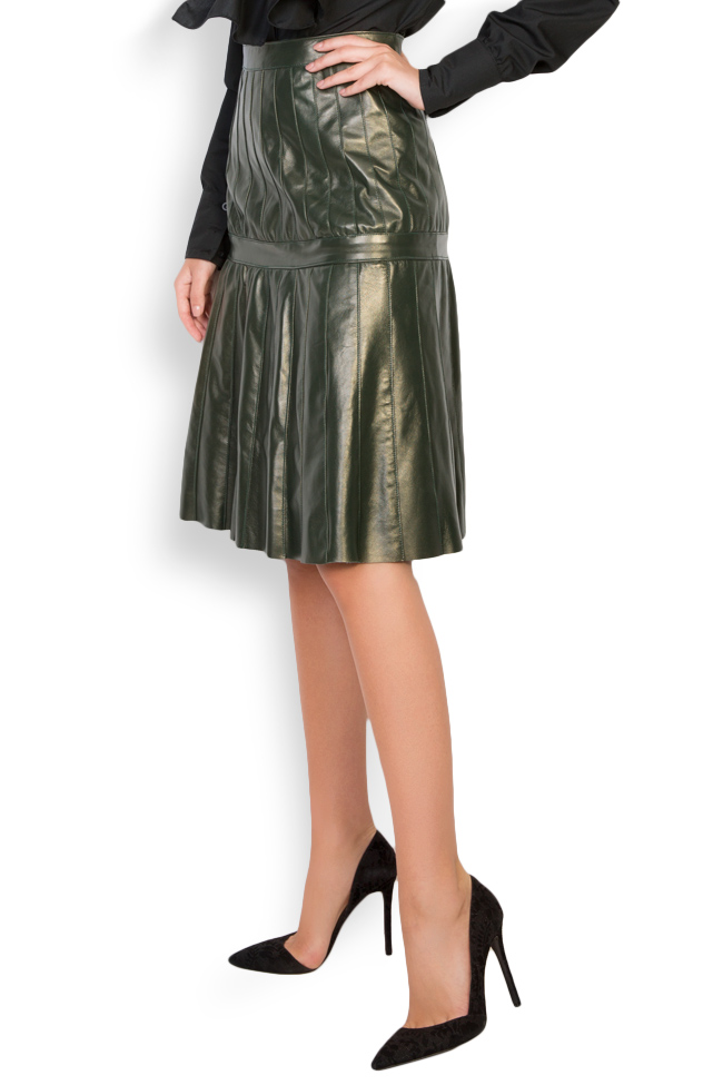 Pleated leather skirt LUWA image 1