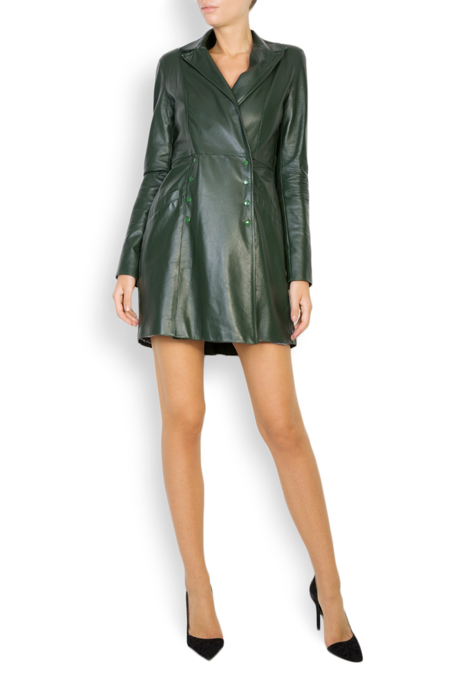 Leather mini dress LUWA image 0