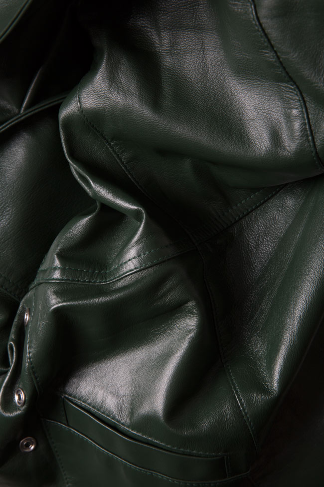 Leather mini dress LUWA image 4