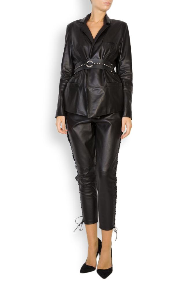 Belted leather blazer LUWA image 0