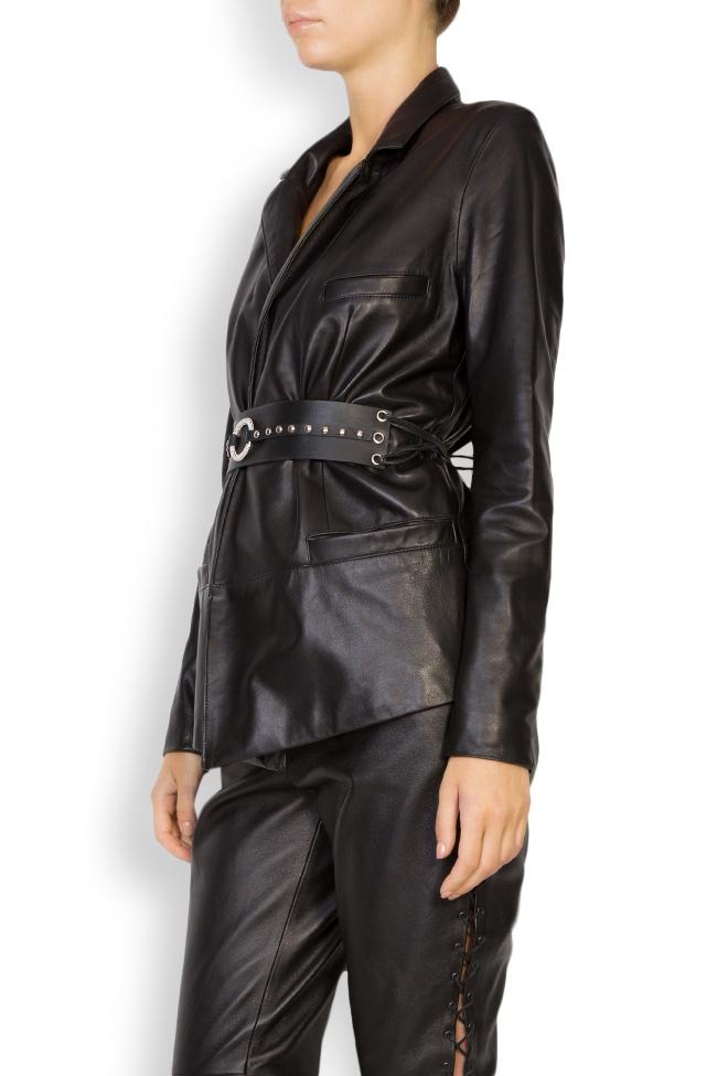 Belted leather blazer LUWA image 1