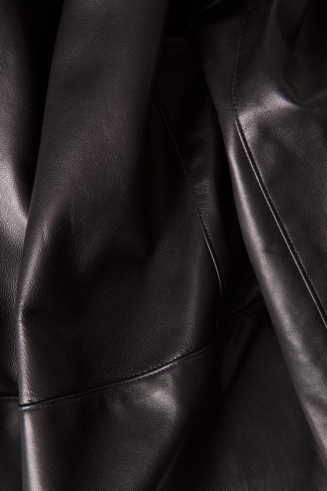Belted leather blazer LUWA image 4