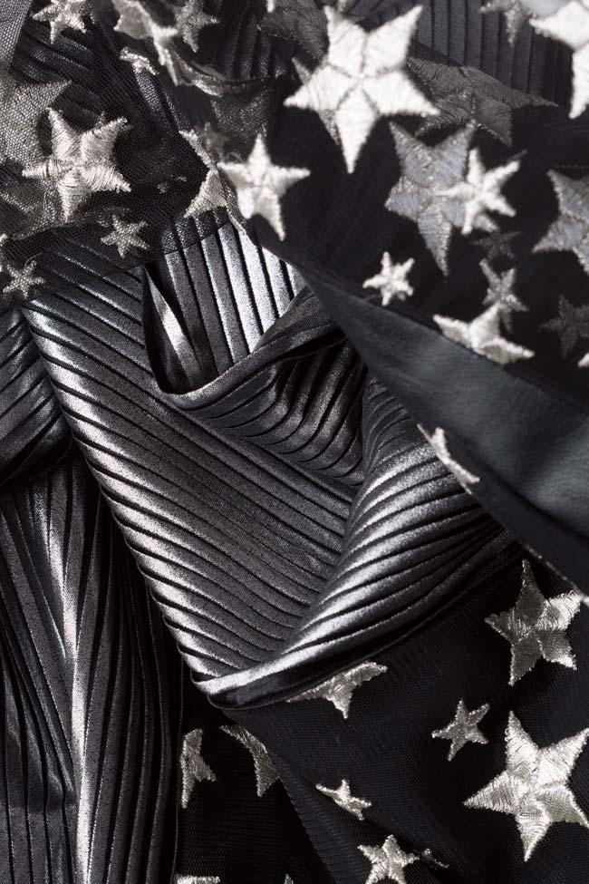 Robe en lamé et tulle avec manches surdimensionnées LOOMY image 4