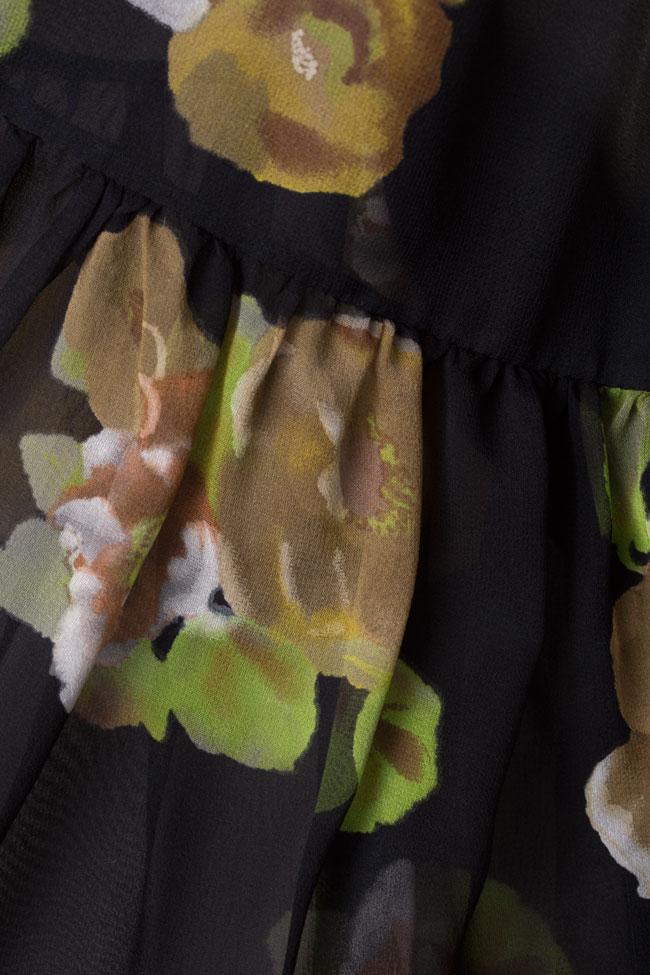 Rochie maxi din matase cu imprimeu floral Oana Manolescu imagine 4