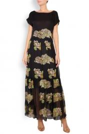 Oana Manolescu Robe maxi en soie à imprimé floral