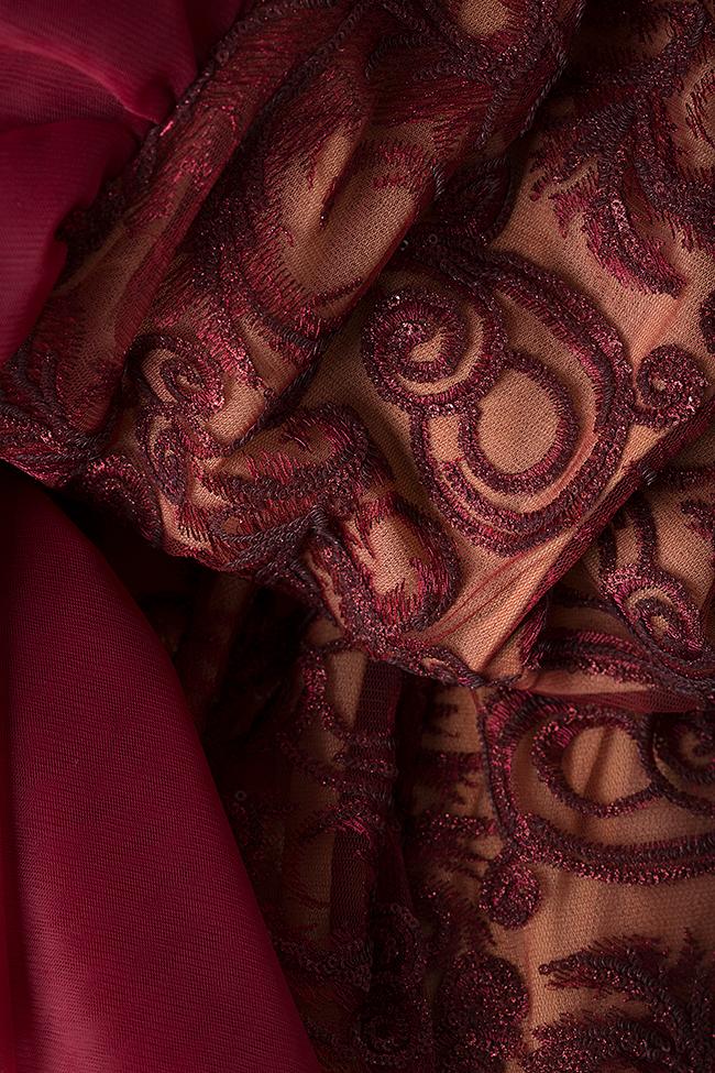 Rochie din dantela cu aplicatii decorative la spate Simona Semen imagine 4