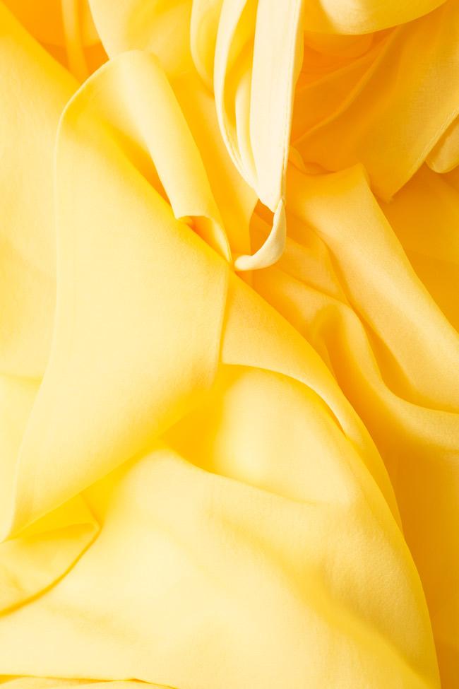 Robe midi en voile avec noeud surdimensionné Womanland by Irina Mazilu image 4